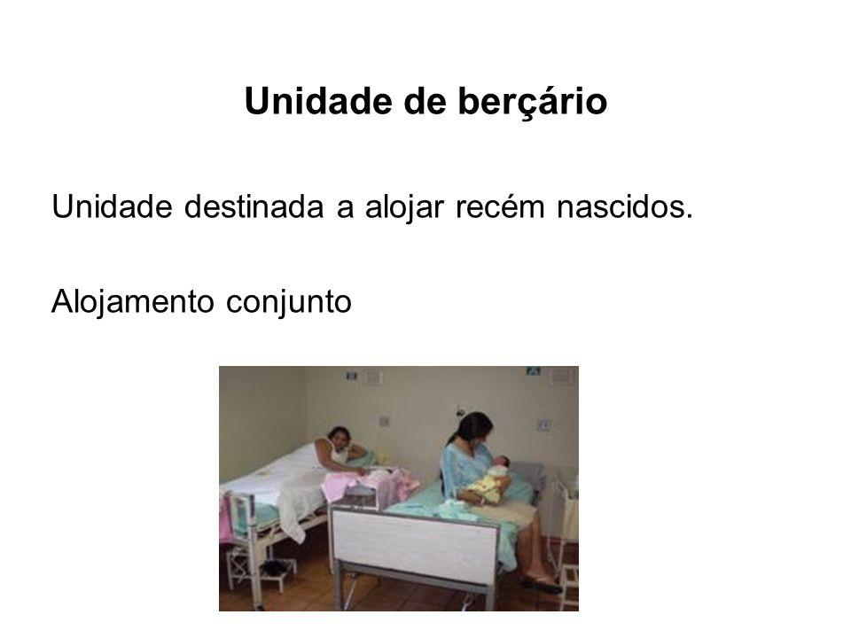 Unidade de berçário Unidade destinada a alojar recém nascidos.