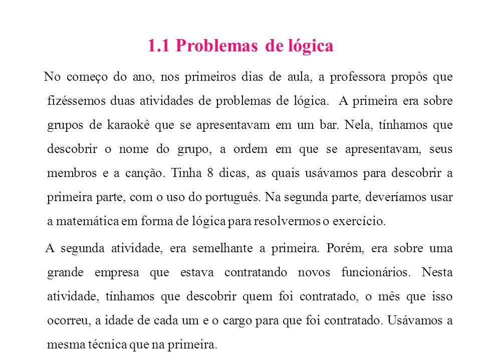 1.1 Problemas de lógica
