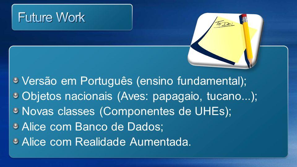 Future Work Versão em Português (ensino fundamental);