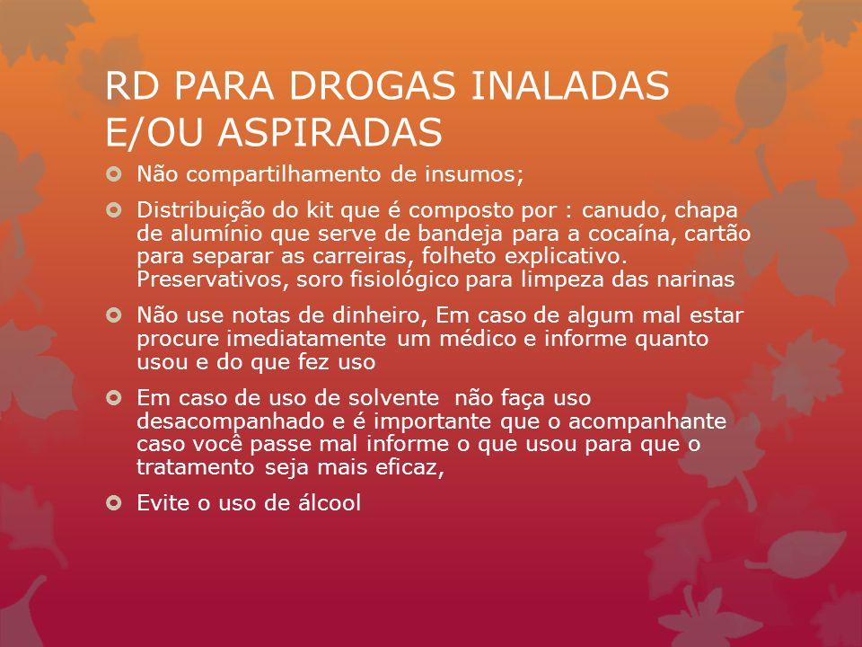 RD PARA DROGAS INALADAS E/OU ASPIRADAS
