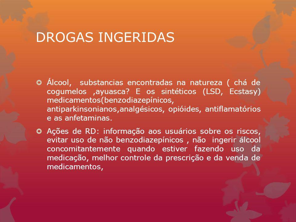 DROGAS INGERIDAS