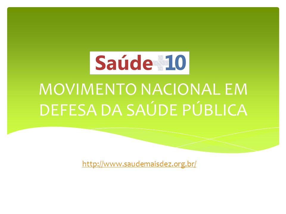 MOVIMENTO NACIONAL EM DEFESA DA SAÚDE PÚBLICA