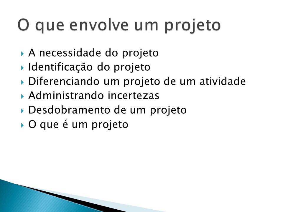O que envolve um projeto