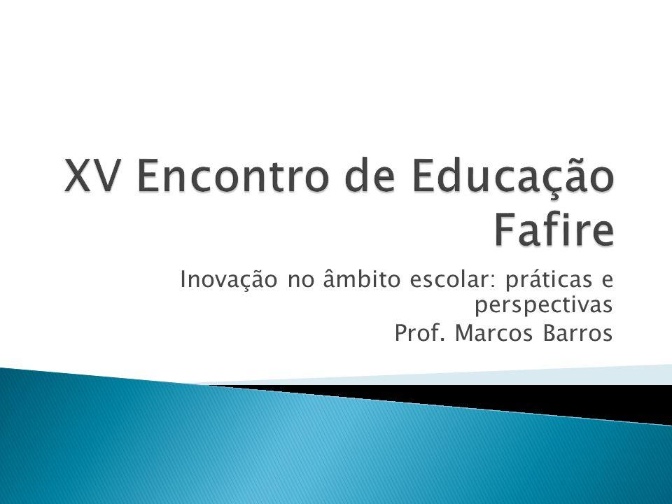 XV Encontro de Educação Fafire
