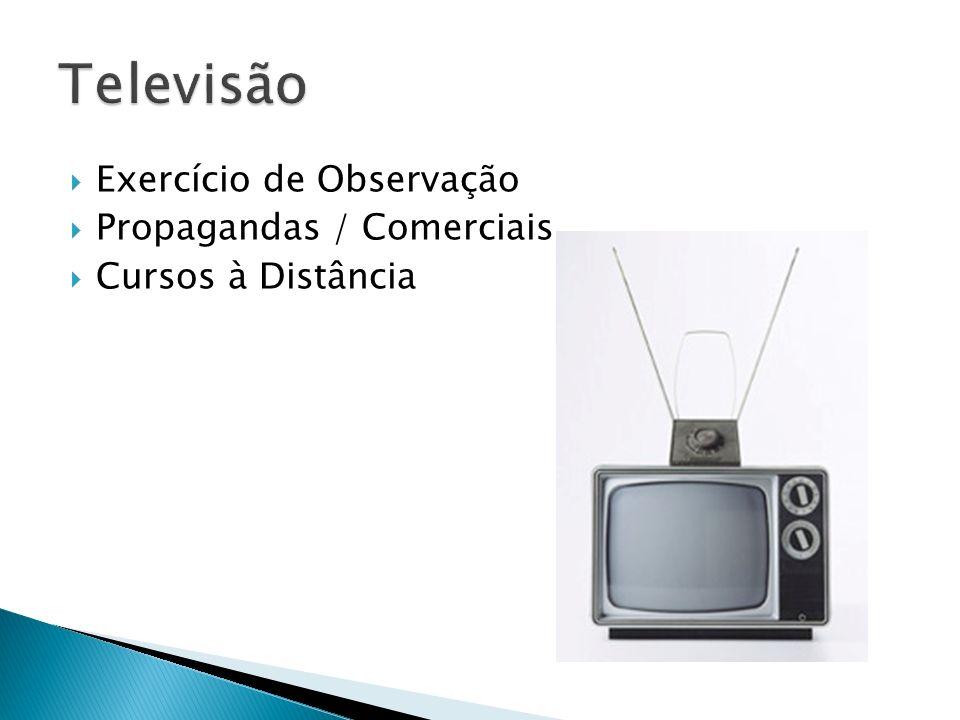 Televisão Exercício de Observação Propagandas / Comerciais