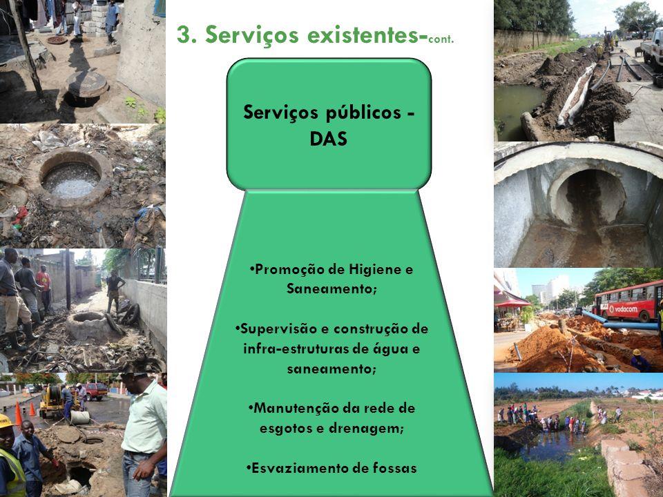3. Serviços existentes-cont.