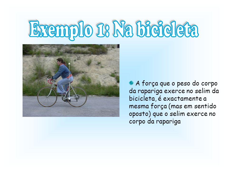Exemplo 1: Na bicicleta