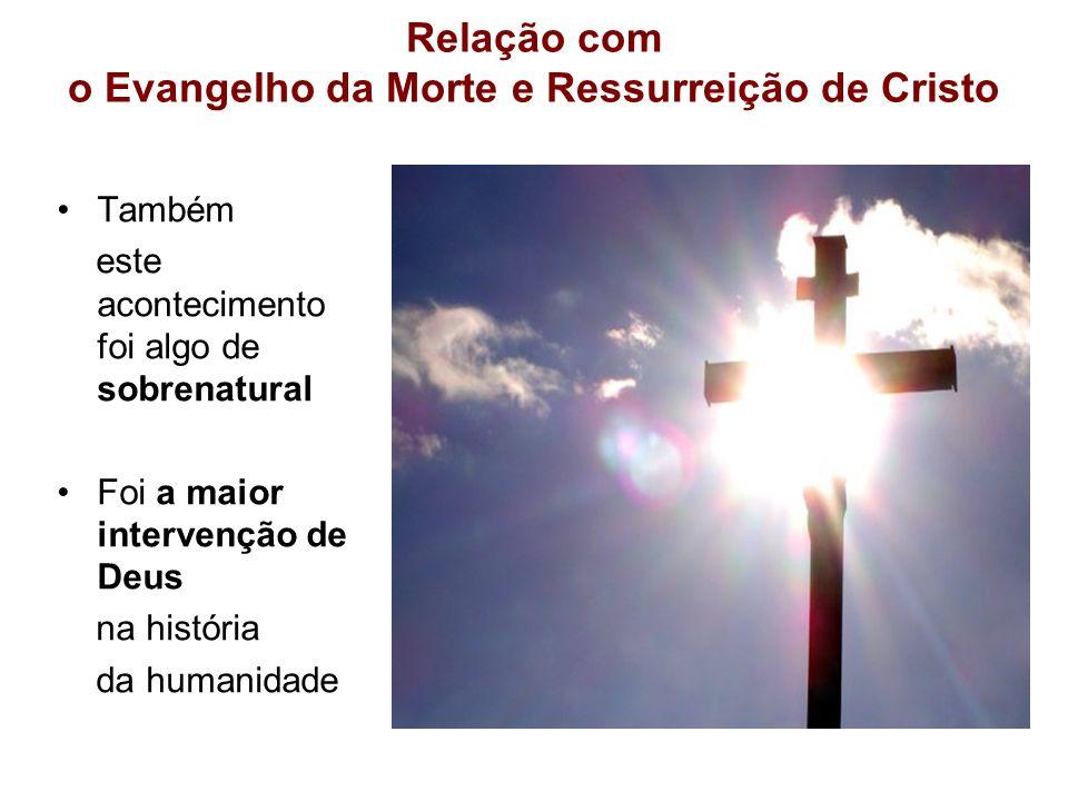 Relação com o Evangelho da Morte e Ressurreição de Cristo