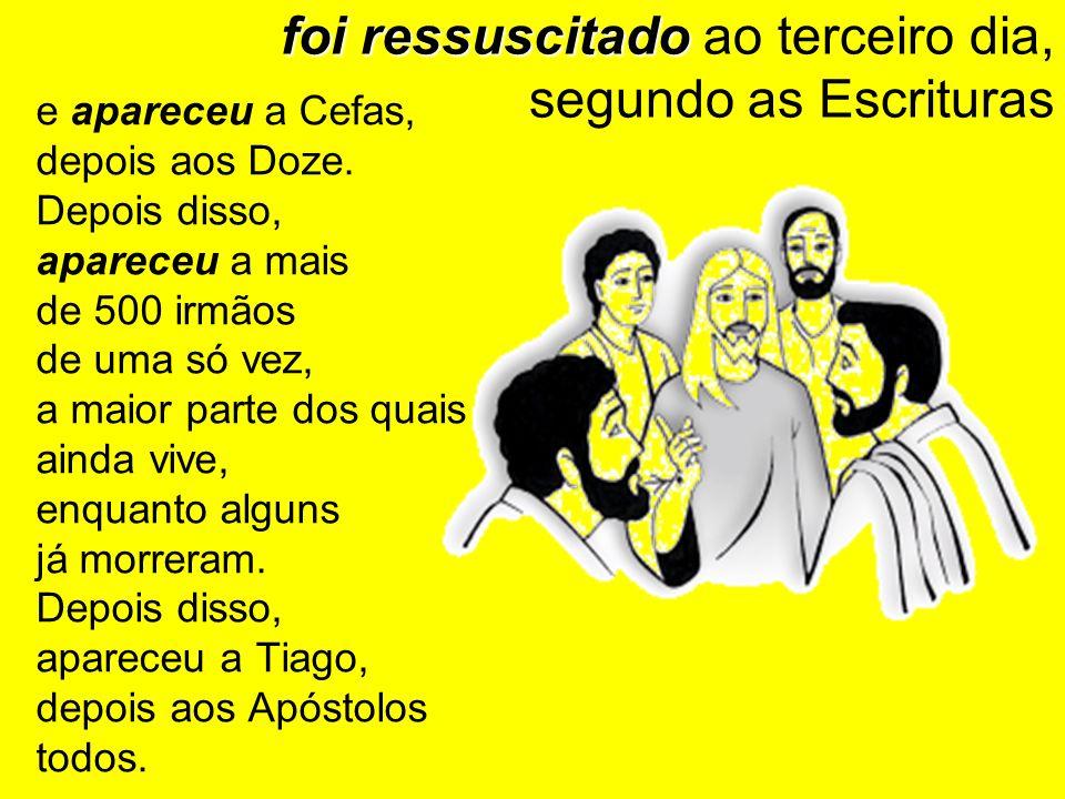 foi ressuscitado ao terceiro dia, segundo as Escrituras