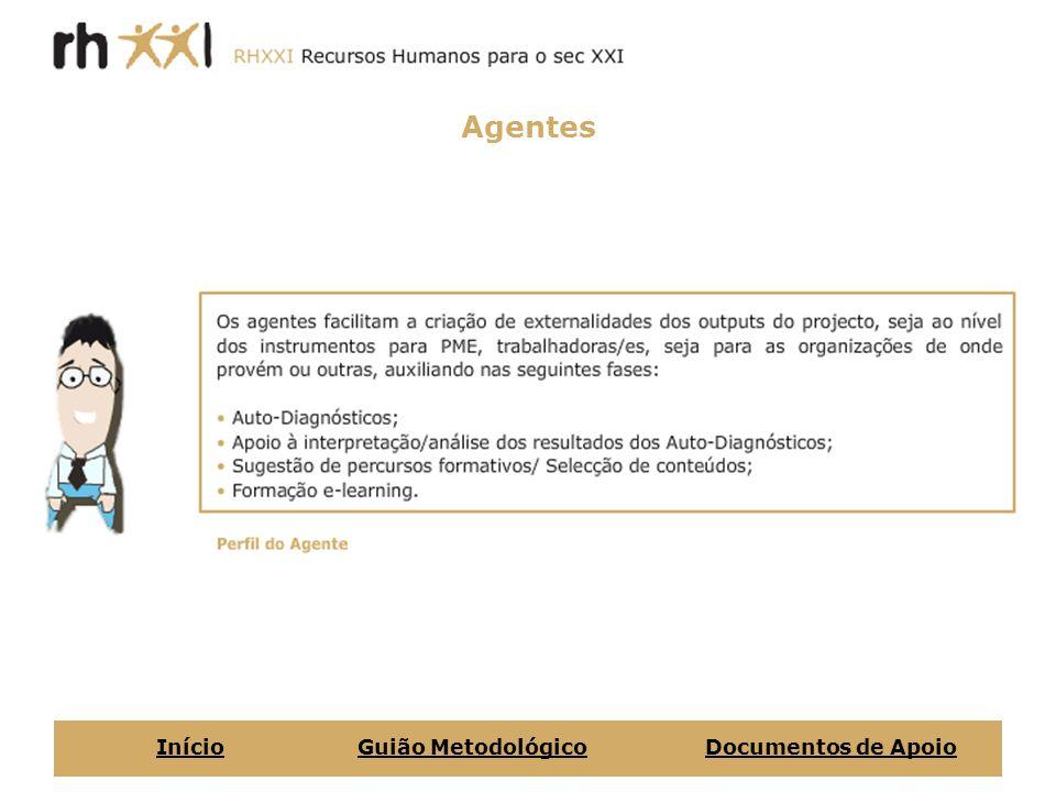 Agentes Início Guião Metodológico Documentos de Apoio