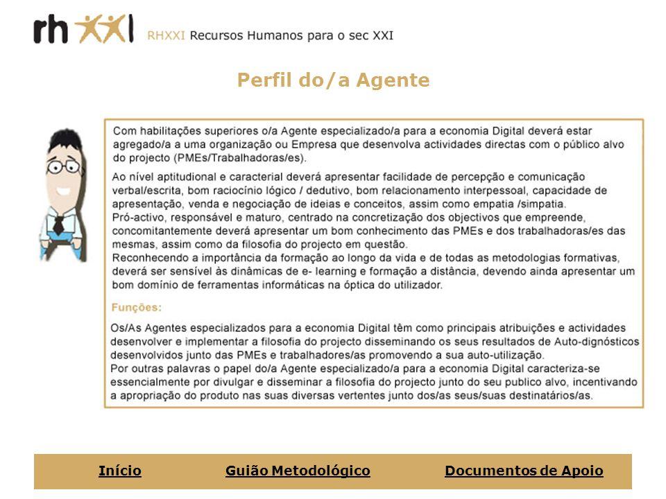 Perfil do/a Agente Início Guião Metodológico Documentos de Apoio