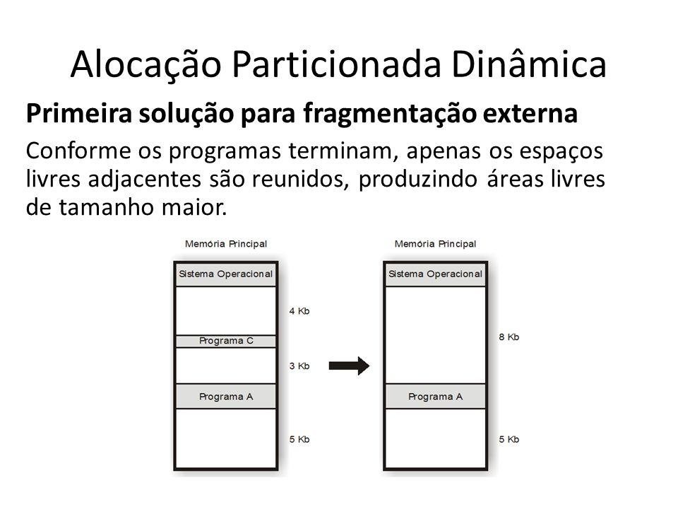 Alocação Particionada Dinâmica