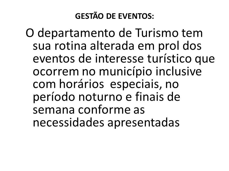 GESTÃO DE EVENTOS: