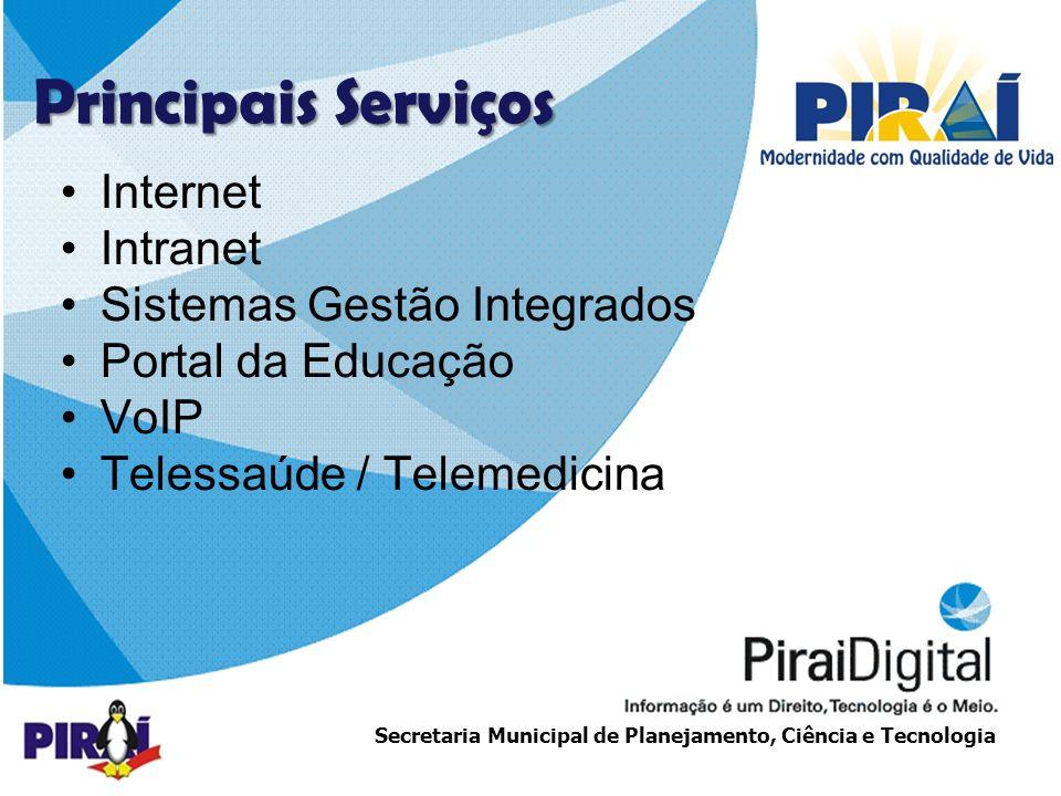Principais Serviços Internet Intranet Sistemas Gestão Integrados
