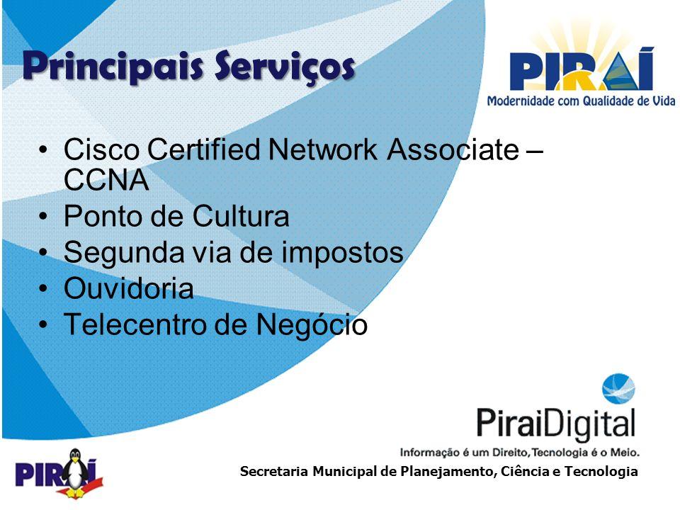 Principais Serviços Cisco Certified Network Associate – CCNA