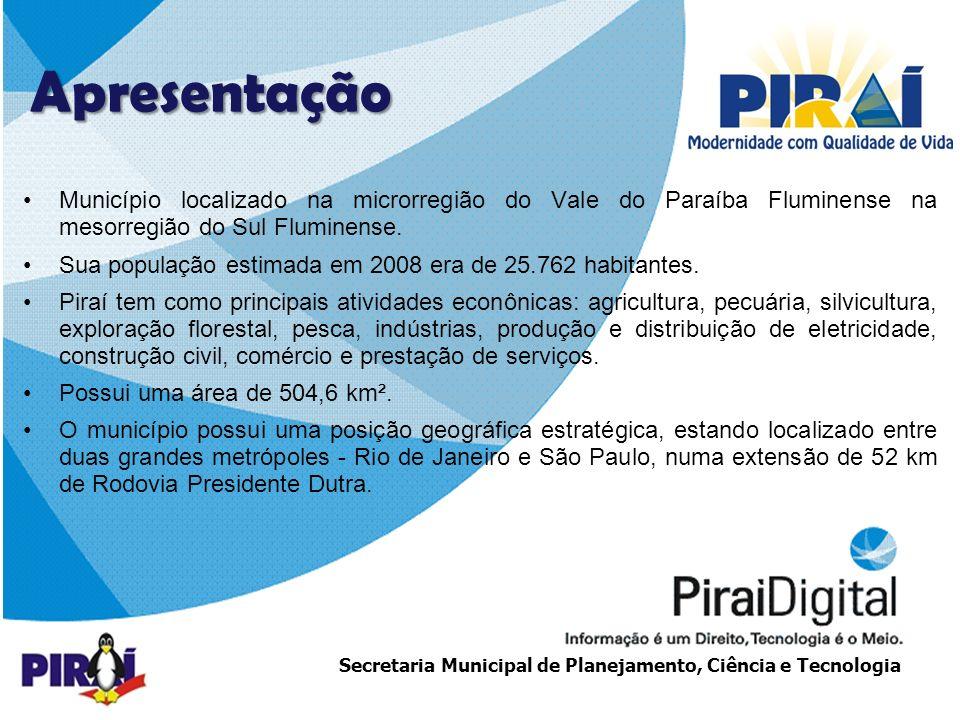 Apresentação Município localizado na microrregião do Vale do Paraíba Fluminense na mesorregião do Sul Fluminense.