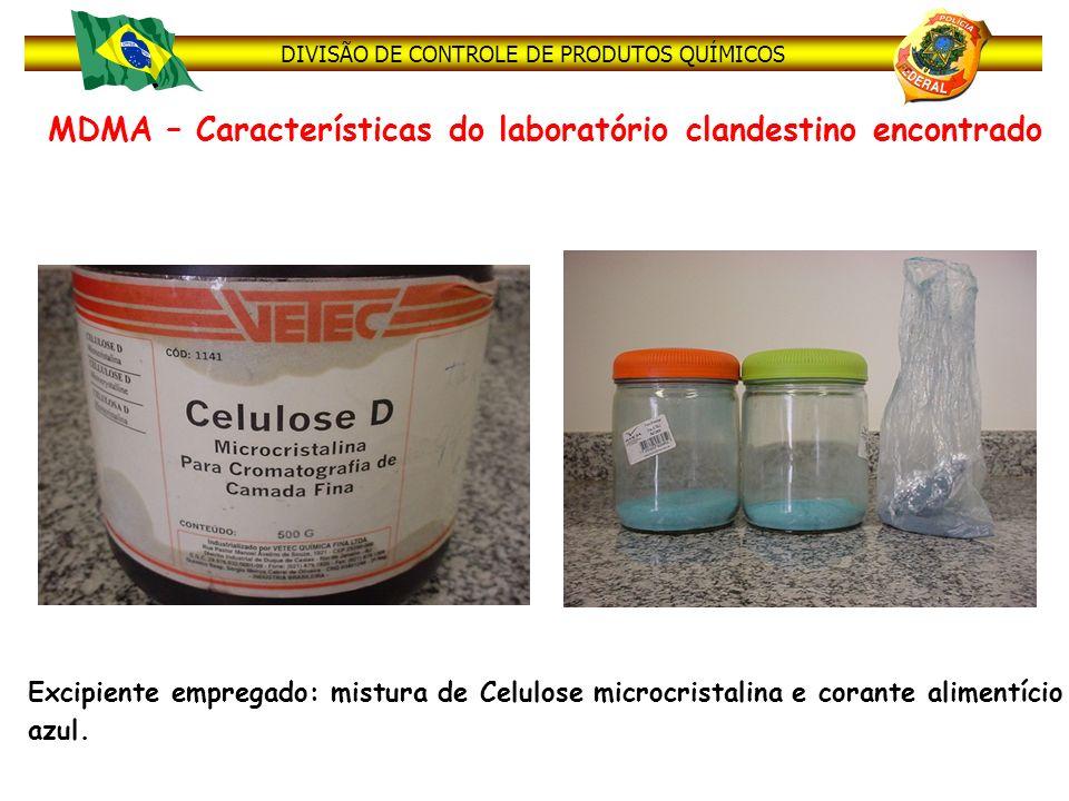 MDMA – Características do laboratório clandestino encontrado