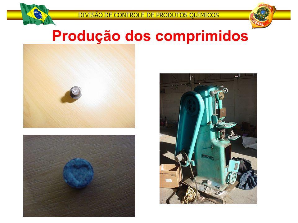 Produção dos comprimidos