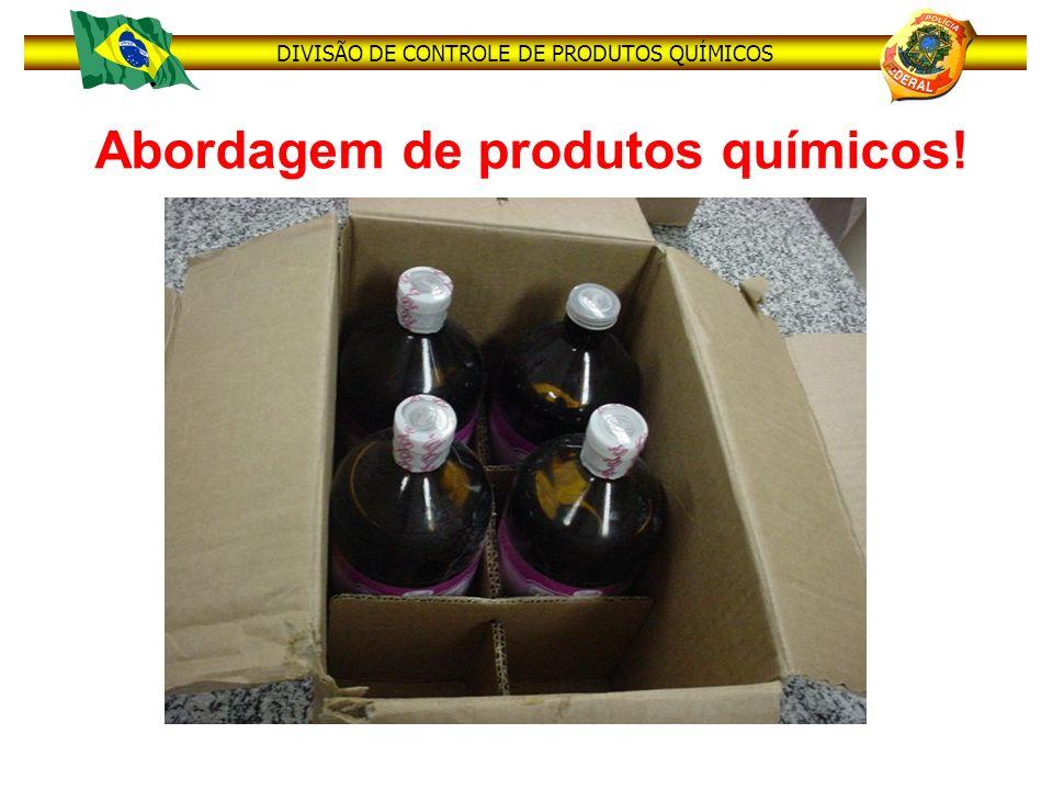 Abordagem de produtos químicos!