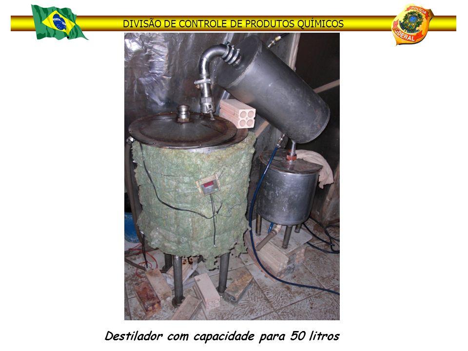 Destilador com capacidade para 50 litros
