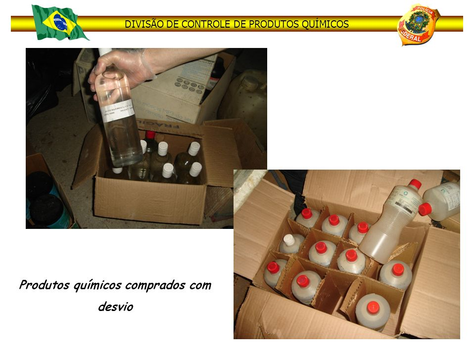 Produtos químicos comprados com desvio