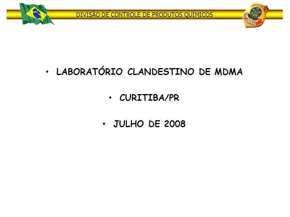 LABORATÓRIO CLANDESTINO DE MDMA