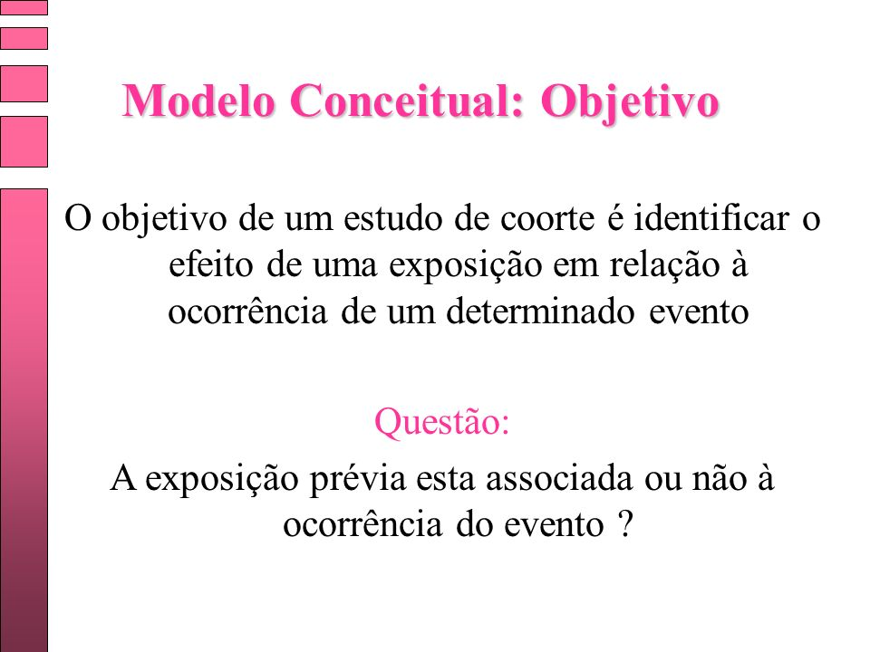 Modelo Conceitual: Objetivo