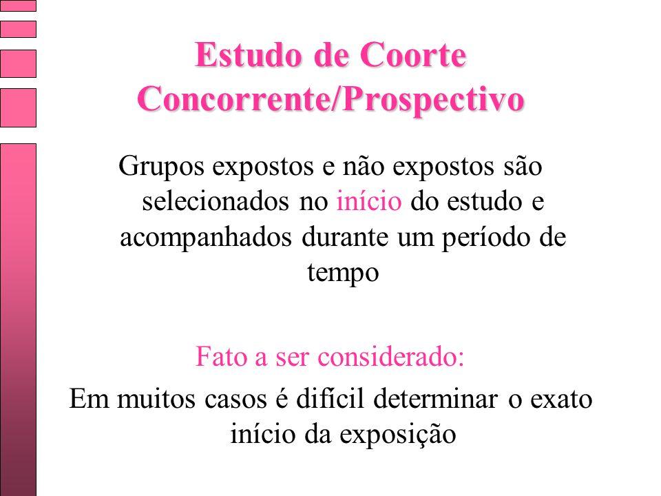 Estudo de Coorte Concorrente/Prospectivo