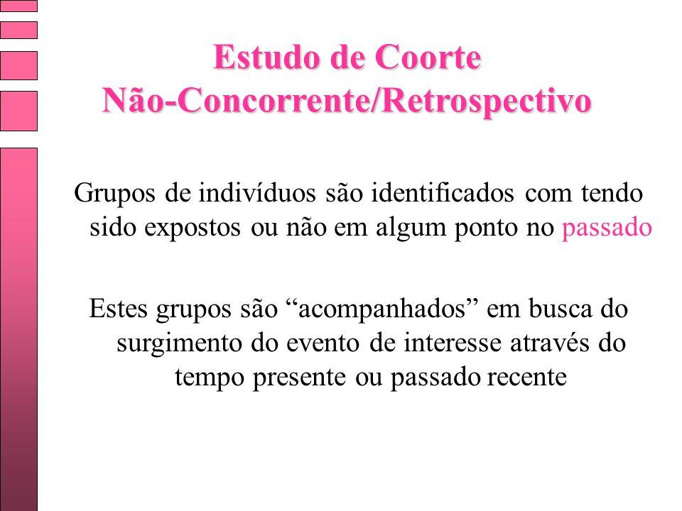 Estudo de Coorte Não-Concorrente/Retrospectivo