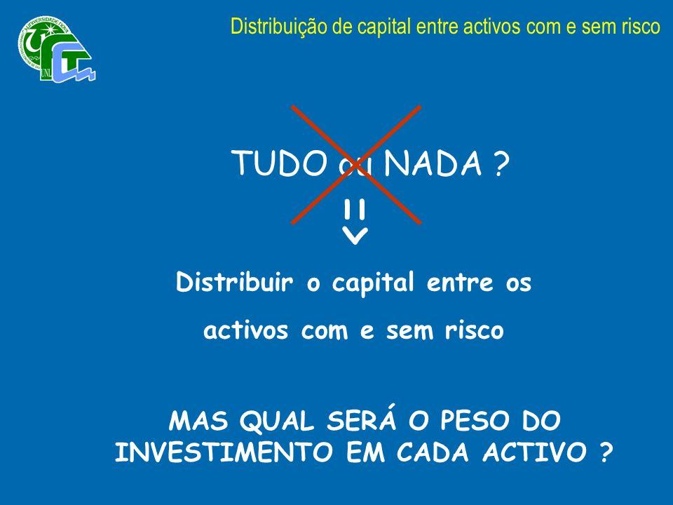 => TUDO ou NADA Distribuir o capital entre os
