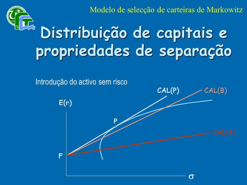 Distribuição de capitais e propriedades de separação