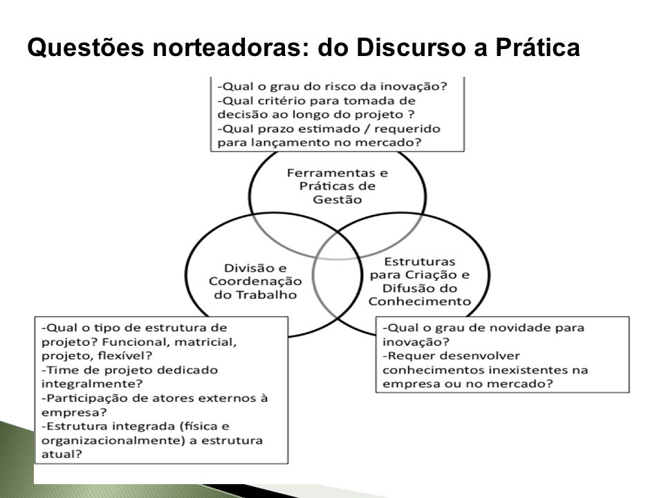 Questões norteadoras: do Discurso a Prática