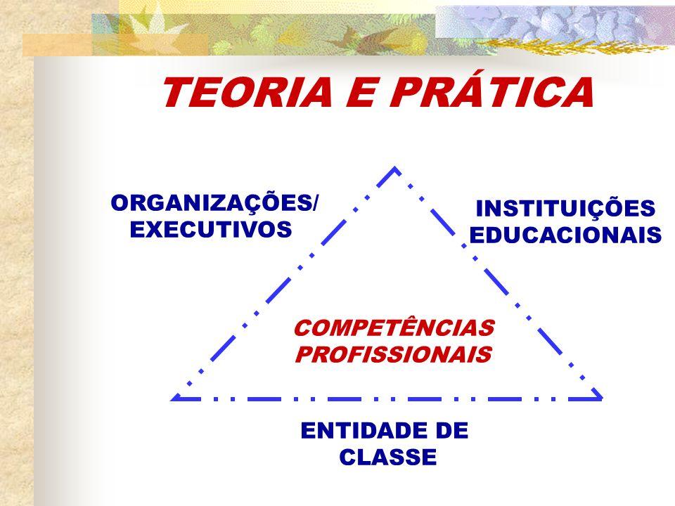 TEORIA E PRÁTICA ORGANIZAÇÕES/ INSTITUIÇÕES EXECUTIVOS EDUCACIONAIS
