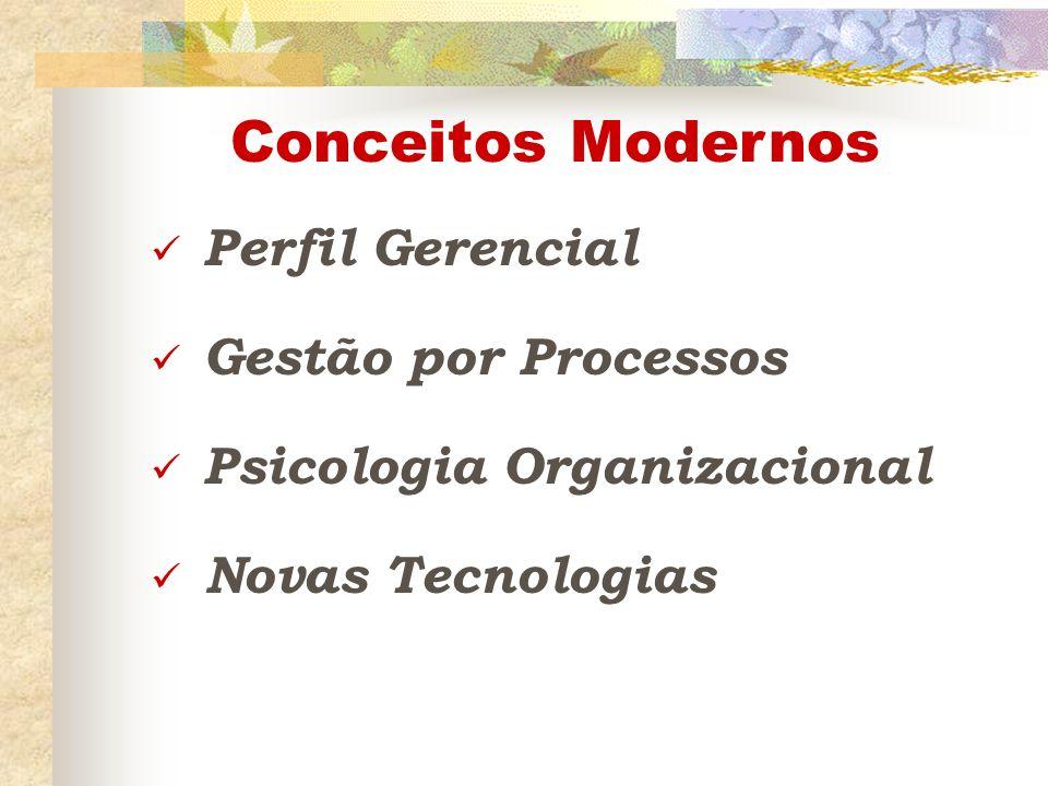 Conceitos Modernos Perfil Gerencial Gestão por Processos