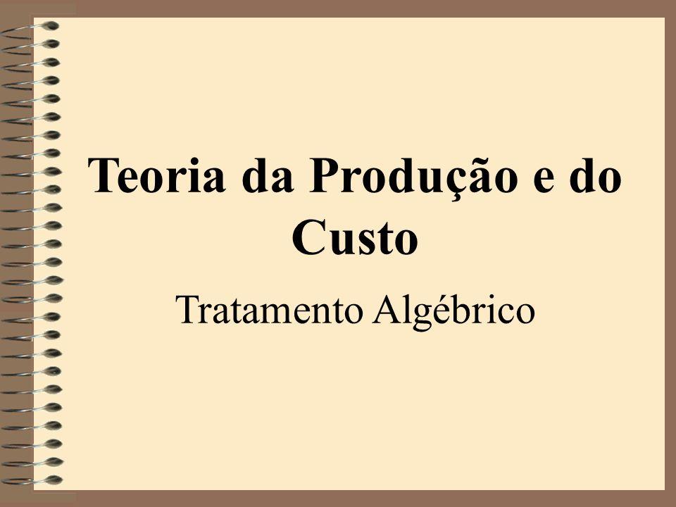 Teoria da Produção e do Custo
