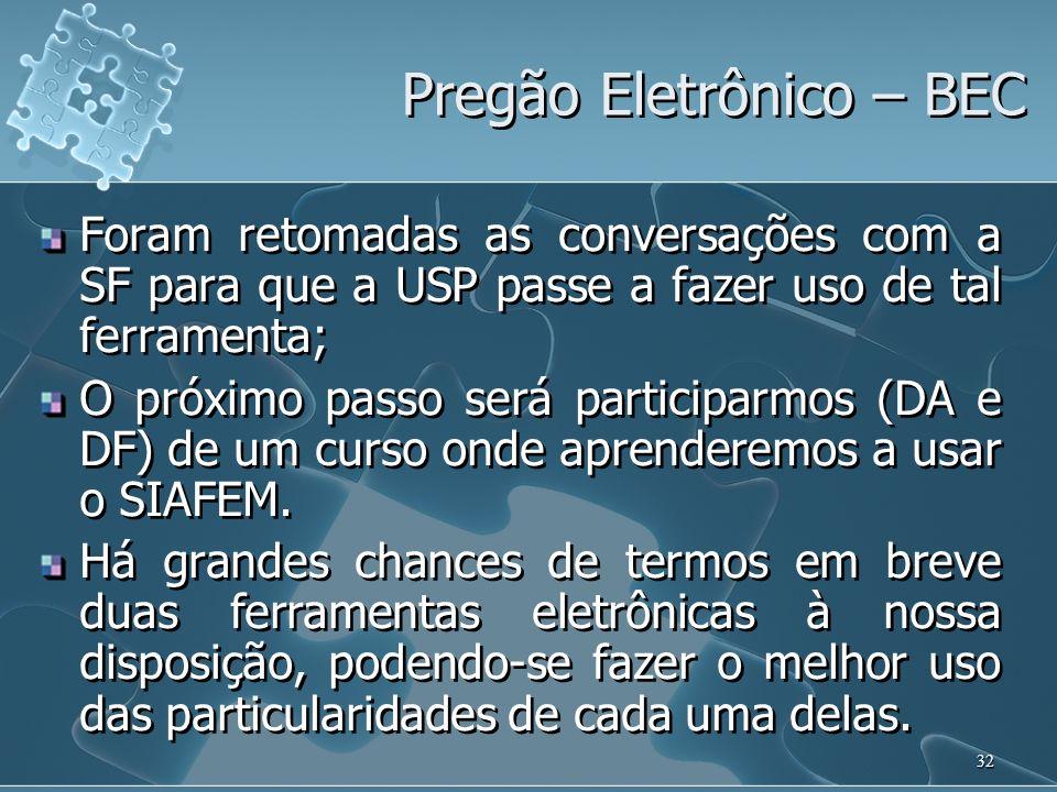 Pregão Eletrônico – BEC