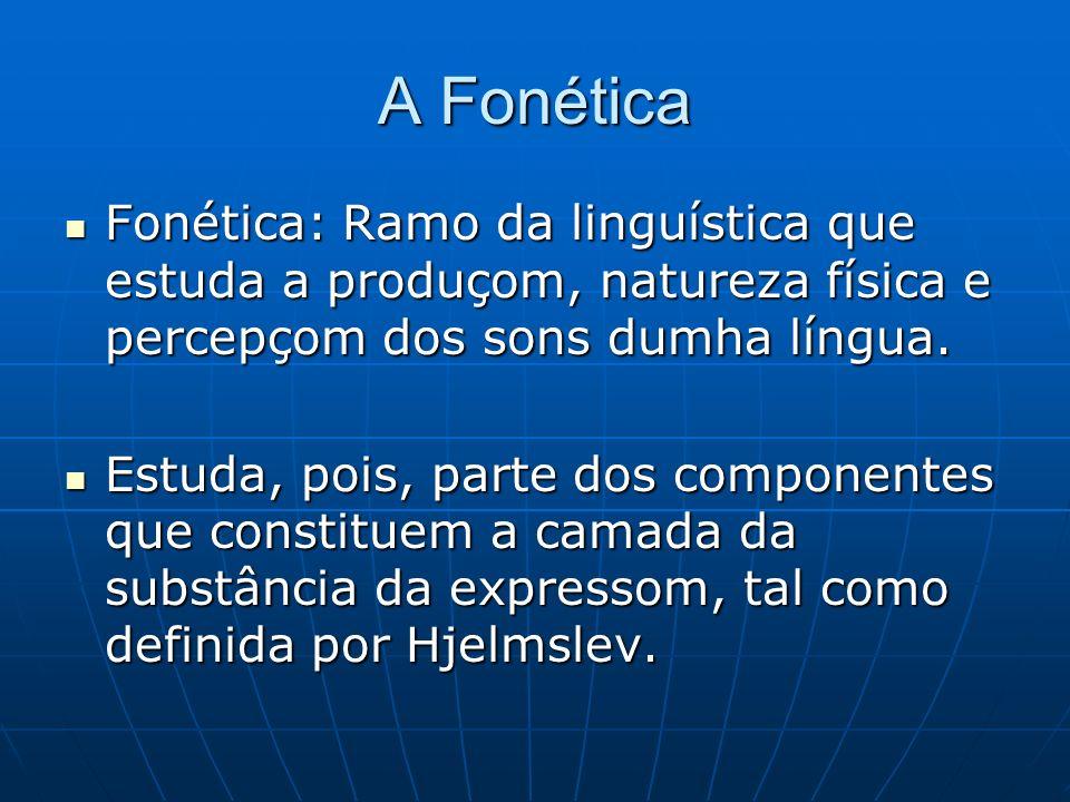 A Fonética Fonética: Ramo da linguística que estuda a produçom, natureza física e percepçom dos sons dumha língua.
