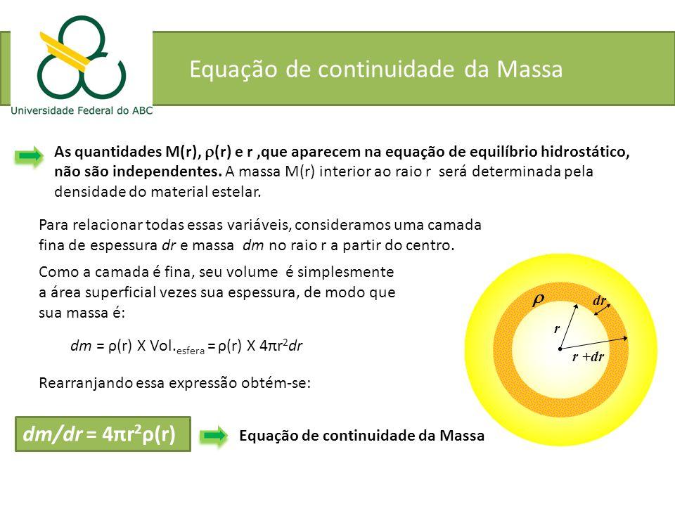 Equação de continuidade da Massa