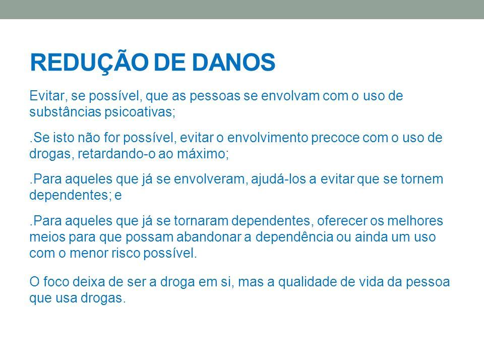 REDUÇÃO DE DANOS REDUÇÃO DE DANOS