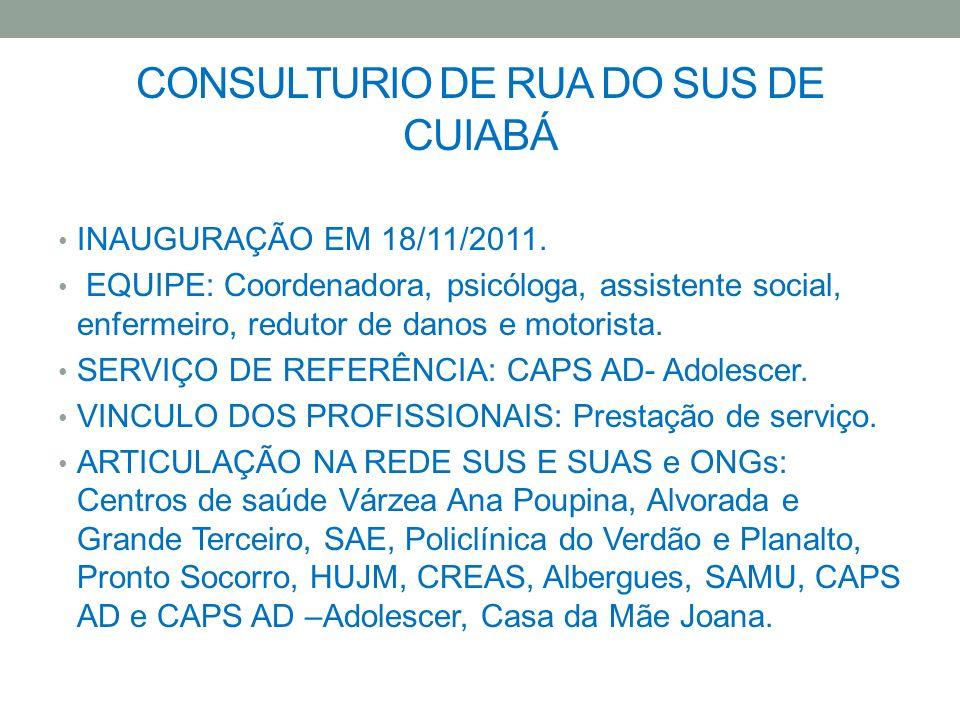 CONSULTURIO DE RUA DO SUS DE CUIABÁ