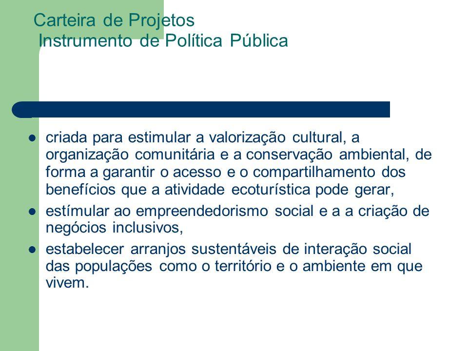 Carteira de Projetos Instrumento de Política Pública
