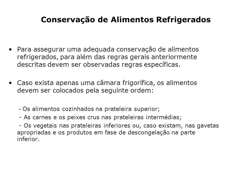 Conservação de Alimentos Refrigerados
