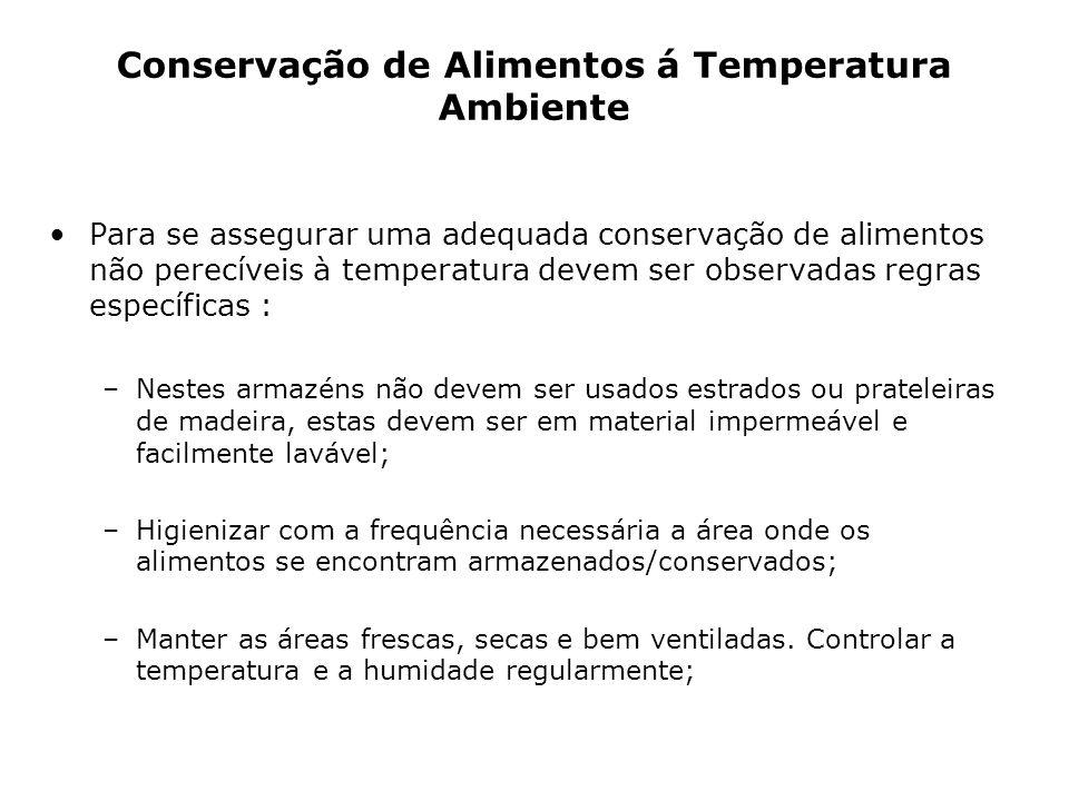Conservação de Alimentos á Temperatura Ambiente
