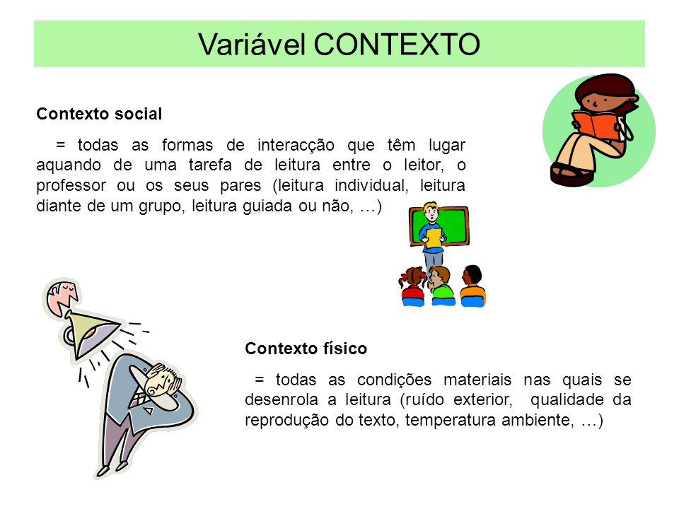 Variável CONTEXTO Contexto social