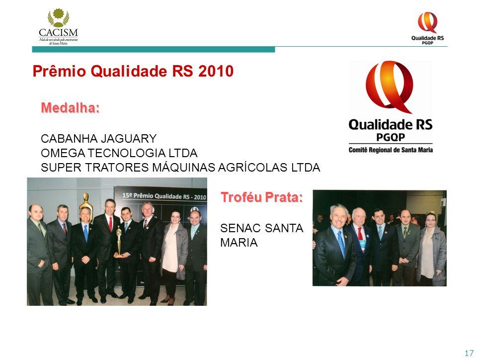 Prêmio Qualidade RS 2010 Medalha: Troféu Prata: CABANHA JAGUARY