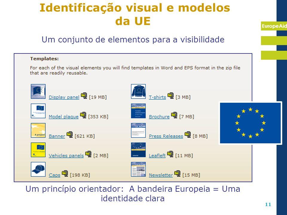 Identificação visual e modelos da UE