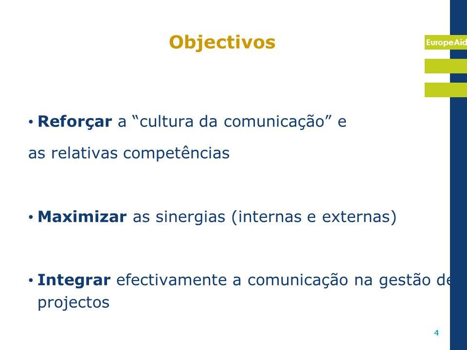 Objectivos Reforçar a cultura da comunicação e