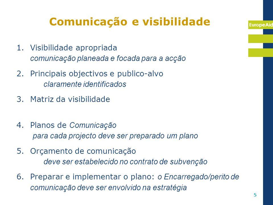 Comunicação e visibilidade