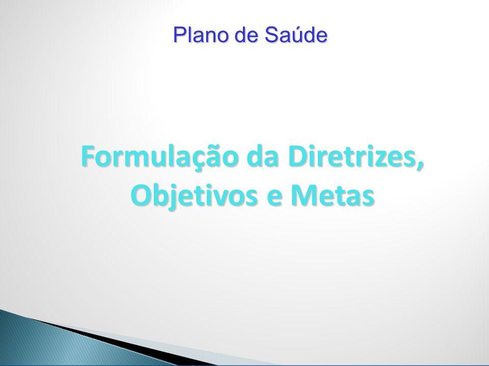 Formulação da Diretrizes, Objetivos e Metas