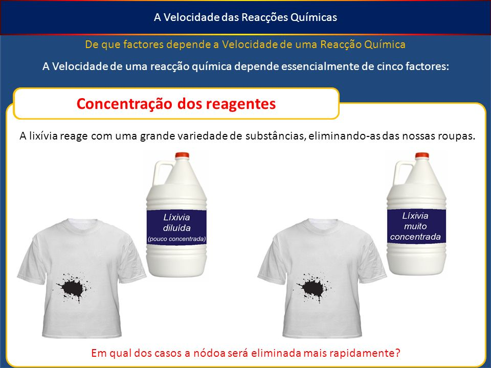 Concentração dos reagentes